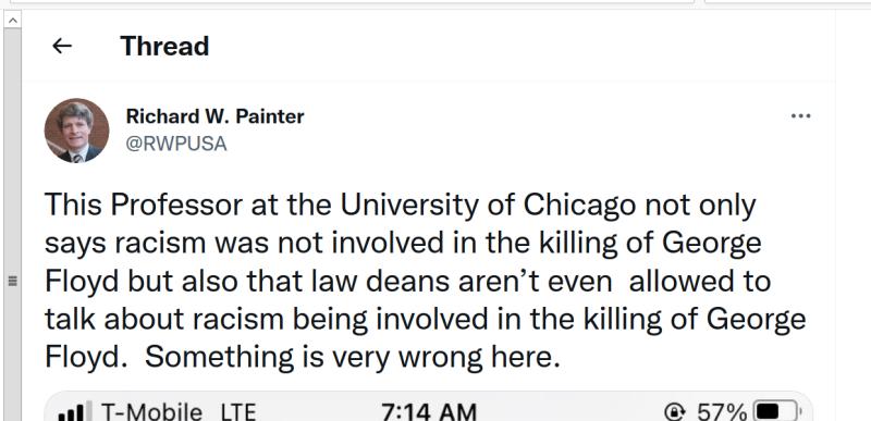 Painter pathological dishonesty racism